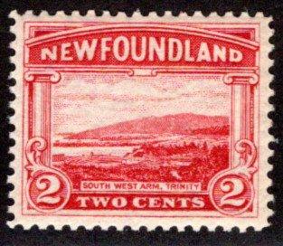 124, NSSC, Newfoundland, 2¢ Trinity, green,MNHOG, F/VF,Scott 132