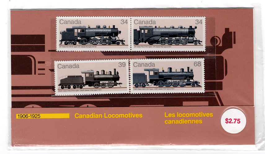 1985, Thematic Collection #32, Canadian Locomotives 1906-1925