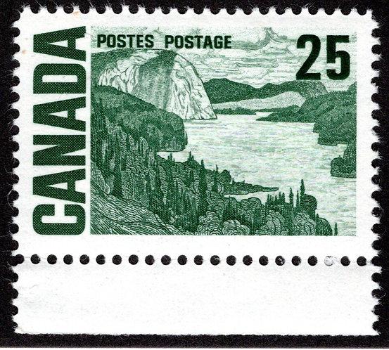 465ii, Scott, 25c,Dex, HB, HiBriteMNHOG, 1967-73 Centennial Definitives, Canad