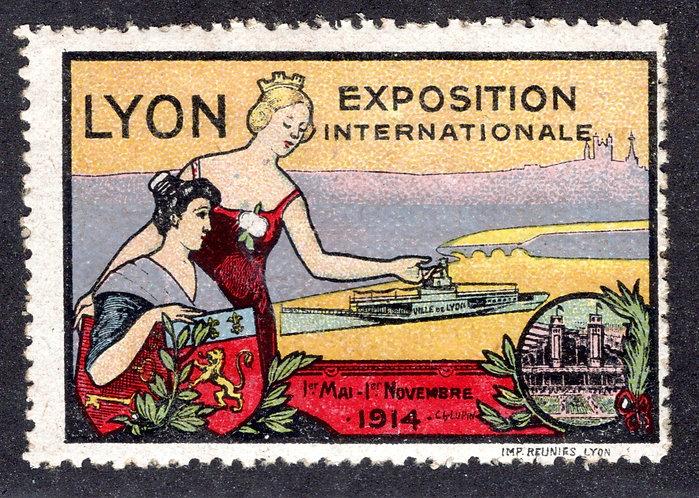 France 1914 Lyon International Exposition poster stamp MNH