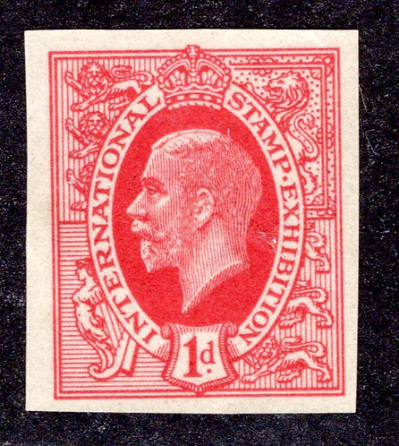 GB 1912 -1d - International Stamp Exhibition Red/Carmine Imperf - MNH