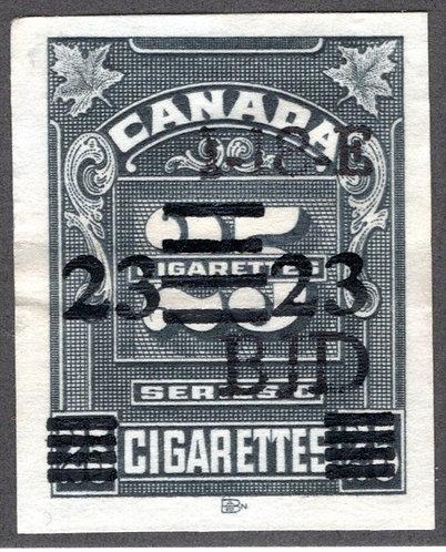 "Ryan RC469 - Brandom C429 - Series ""C"", Roman 23 on 25 cigarettes, five lines (1"