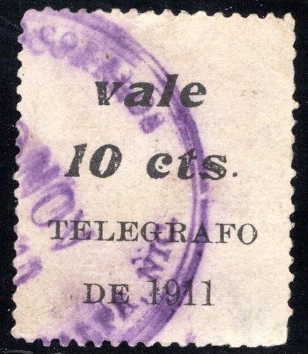 RH152, H152, Types 44,45 - Nicaragua Railway,15c on 5c variety