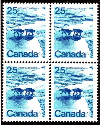 597aiii Scott - 25c, Siamese Bears Variety, VF, MNHOG, Fort Garry, Canada Postag