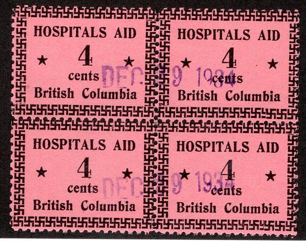 van Dam BCH2 with (2) BCH2bvarieties,MLHOG, BC Hospitals Meal Tax Revenue Stam