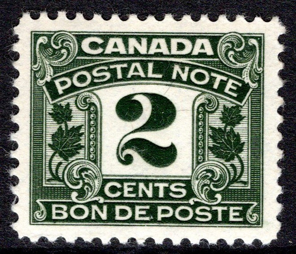 van Dam FPS4, Postal Note, 2c olive, VF/EF, MNHOG Beauty