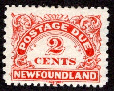 PD2 , NSSC, Newfoundland, 2¢ vermillion, Postage Due, MLHOG, p.11x9