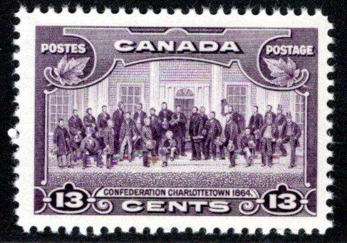 224, Scott, Charlottetown, 13c, F/VF, MNHOG, Canada Postal Stamp