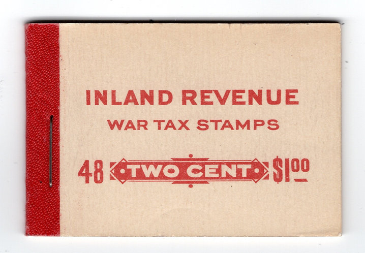 van Dam FWT8f,Complete booklet of 48, 2c stamps, 8 panes, red binding.