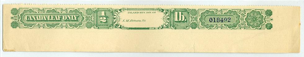 "Ryan RP89 - Brandom P105 - 1880 1/2 lbTobacco - p.12 - ""Open"" Div. Mint"