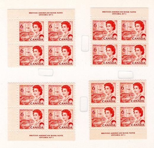 459, Scott, Centennial, 6c, Plate 1, Matched Inscription Blocks, LF