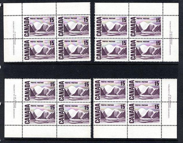463Scott, Matched Plate Block Set, Plate 2, LF, DEX, MNHOG, VF, Centennial