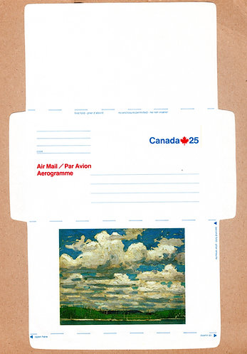 A69 Canada, Aerogramme, 25c blue and red, Unused, Unfolded, 1976-1982