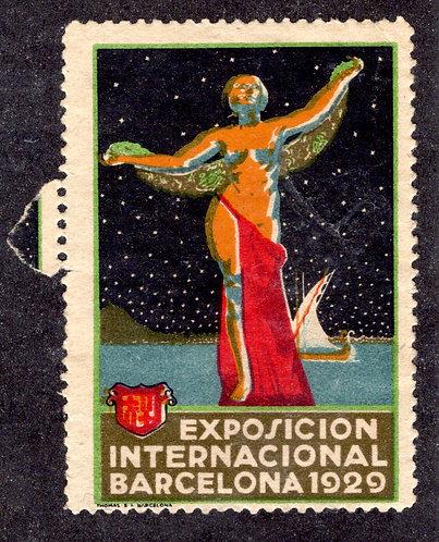 Spain Exposition 1929 Poster Cinderella Barcelona Exhibition MNH
