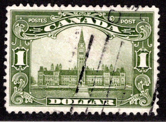 """159 Canada, $1KGV """"Scroll"""" Issue, Used, VF, some minor creasing"""