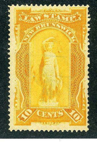 van Dam NBL5 - CARIS: NBL 5 - 10¢ New Brunswick Law - orange yellow - MNHOG