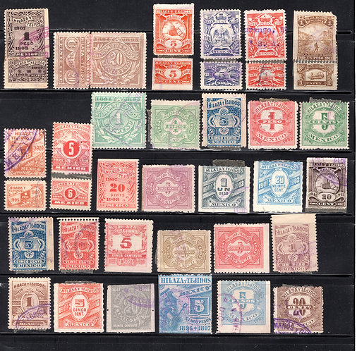 30 Hilaza y Tejidos - Yarn and Textiles Stamps WITHOUT Talons,C/V approx $23-$2