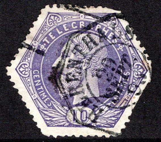 Belgium, H3, 10c 1871, used, Telegraph Revenue Stamp