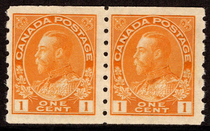 126 Scott - 1c orange yellow, dry printing, Die II, F/VF, MNHOG, 1915-24