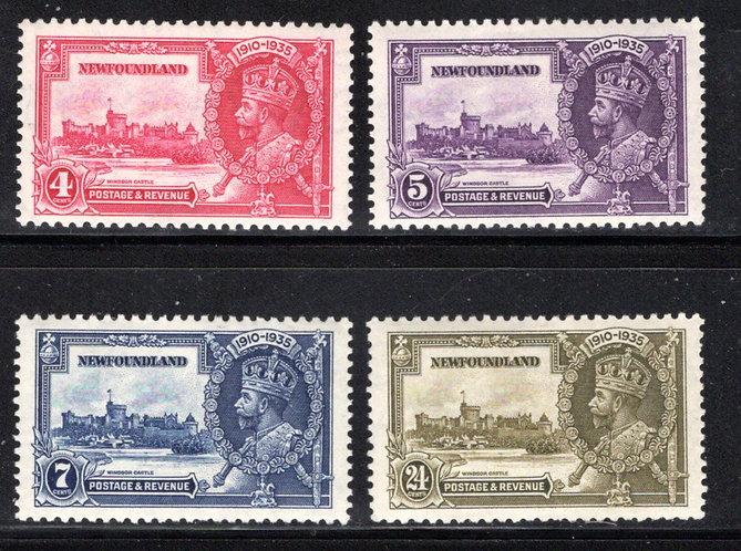 209-212, NSSC, Newfoundland, MLHOG, Silver Jubilee Issue, Scott 226-229