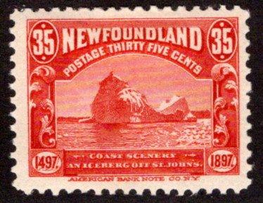 64, NSSC, Newfoundland, 35c, red,Iceberg,MLHOG, F