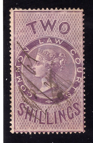 Britian, QV, Common Law Court, Used, Two Shillings