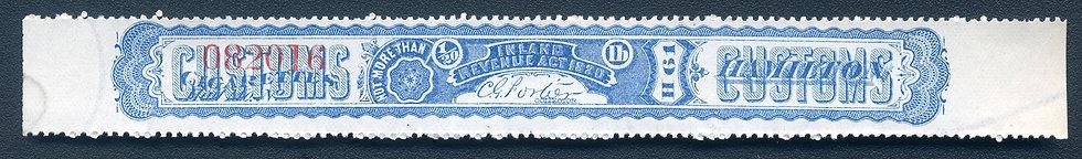 Ryan RC57 - 1881 Cigarette Stamp - Not More Than 1/20th pound - Hamilton Div. -