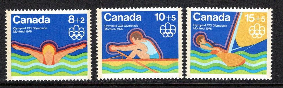 """B4-B6, Canada, """"Water Sports"""" Symbol, MNHOG, 1975, GT2, Semi-Postal Stamps"""