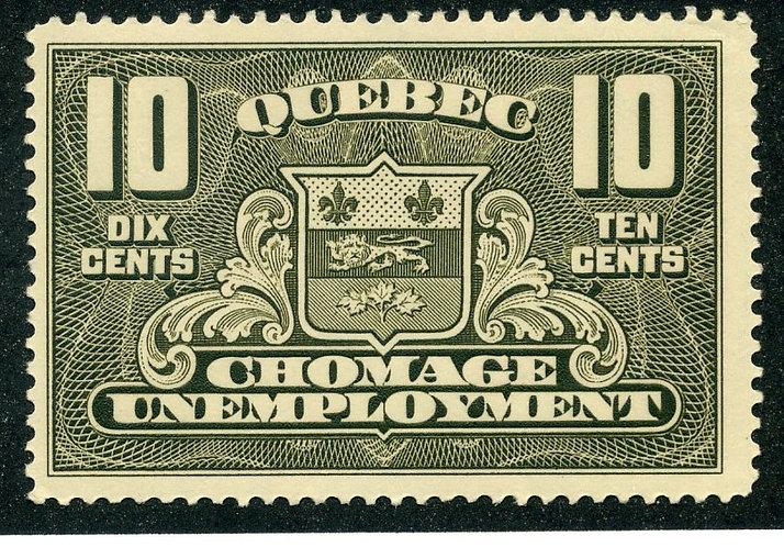 van Dam QU2 - 10c - MLHOG - Quebec Unemployment Relief Tax