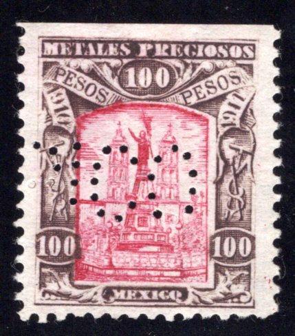 MP 64, Mexico, 100P, 1910-1911, Precious Metals / Metales Preciosos