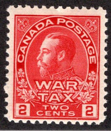 MR2, Scott, 2c War Tax, MNHOG, F, Canada BOBStamp