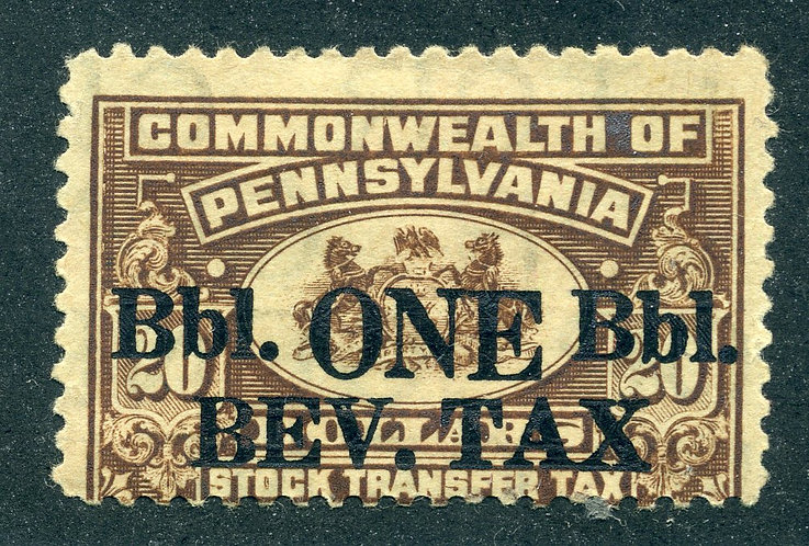 PA B13 - Pennsylvania Beverage Tax, One Barrel