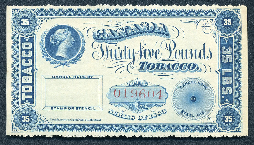 RM301 - Brandom M342 - 35 lbs Blue - Series of 1883 Coupon Stamps, Manufactured