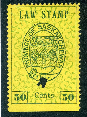 van Dam SL5 - Used- 50c- plate position 22 - 1907 Coat of Arms - First Printin