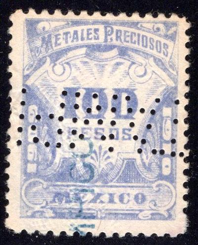MP 60, Mexico, 100P, 1909-1910, Precious Metals / Metales Preciosos