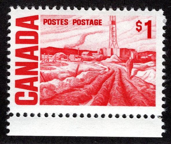 465Bii, Scott, $1,DEX, HB, MNHOG, 1967-73, Edmonton Oil Field, Centennial Defin