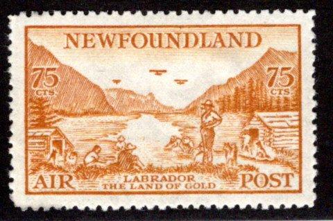 AM18, NSSC,75¢ MLH, Labrador Land of Gold, p.14.3,VF/XF, Newfoundland