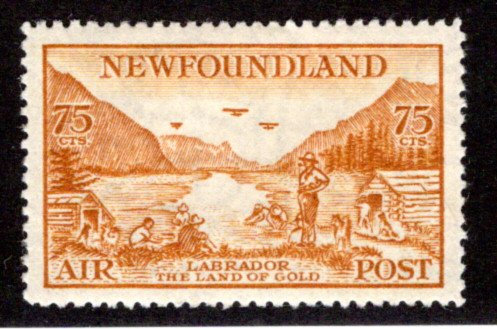 AM18, NSSC, 75¢, MLH, Labrador Land of Gold, perf. 14.3, XF, Newfoundland