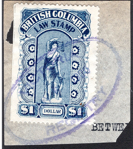 """van Dam BCL26a, """"perf x roulette"""", roulettes on right, $1,used, on piece, Briti"""