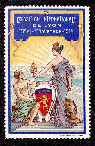 France 1914 Lyon International Exposition poster stamp MNH