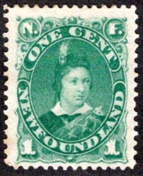 42, NSSC, Newfoundland,1¢ Prince of Wales, green, MHOG, F/VF