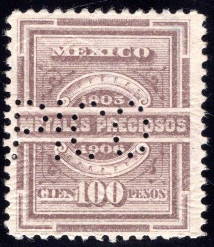 MP 44, Mexico, 100P, 1905-1906, Precious Metals / Metales Preciosos