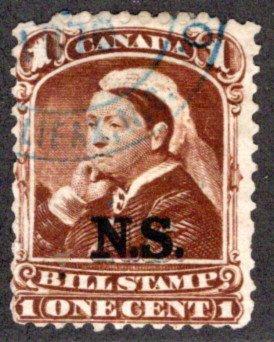 van Dam NSB1 - Nova Scotia Revenue Bill Stamp - 1c - Used