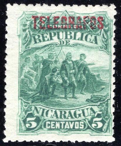 Nicaragua, RH17, H17, Type 5c green- Telegraph Revenue