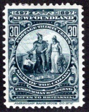 63, NSSC, Newfoundland, 30c, slate,Colony Seal,MHOG, F/VF,Scott 72
