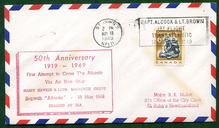 First Flight Attempt to cross Atlantic - 50th Anniversary