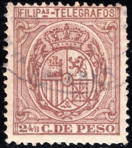 Philippines / Filipinas, H67, 2½c red-brown, 1894-1895, used, Telegraph Revenue