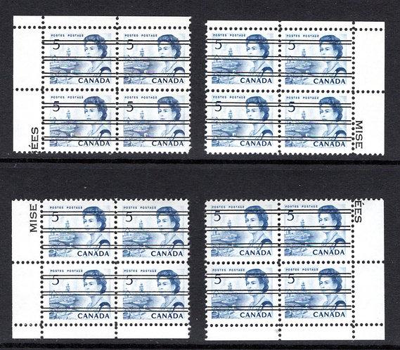 458xxScott - precancelled, DF, DEX, , 5c blue, Matched Blocks, Fishing Village