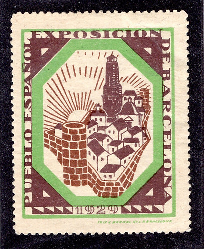 Spain/Barcelona 1929 Exposition poster stamp