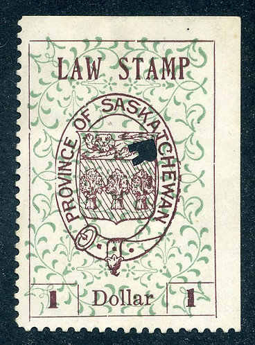 van Dam SL18a - Used- $1 - plate position 5 - 1907 Coat of Arms - Second Print